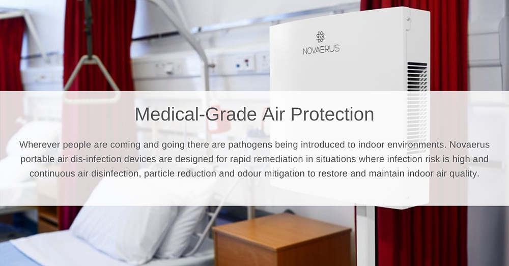 Medical-Grade Air Protection Website Section