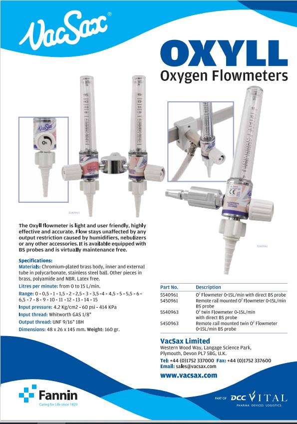 oxygeb flowmeters